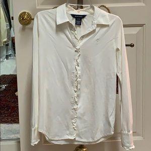 Ralph Lauren cotton long sleeve blouse.
